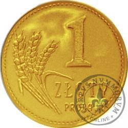 1 złoty - PRÓBA 2013 (mosiądz)