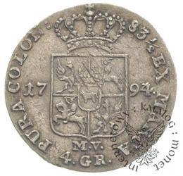 złotówka - 4 grosze 83½