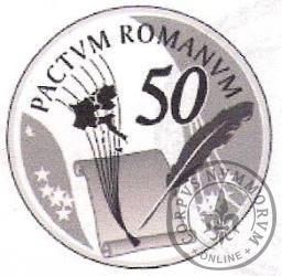 10 euro - 50 rocznica podpisania Traktatów Rzymskich