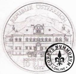 10 euro - zamek Hellbrunn w Salzburgu.