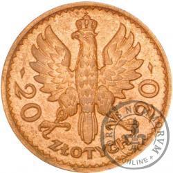20 złotych - Polonia (głowa kobiety) - miedź