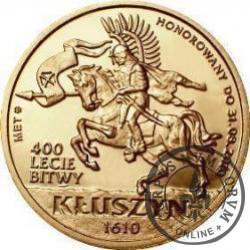 4 dukaty bitewne - Kłuszyn / HUSARZ (mosiądz z tampondrukiem - wersja I)