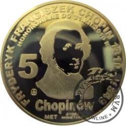 5 chopinów / Fryderyk Chopin (mosiądz)