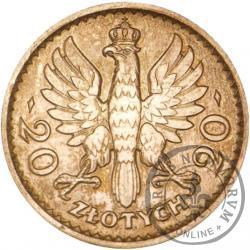 20 złotych - Polonia (głowa kobiety) - Ag