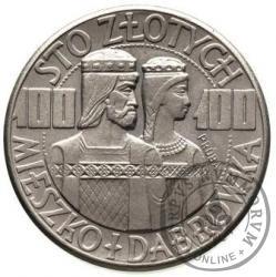 100 złotych - Mieszko i Dąbrówka - półpostacie, Ni