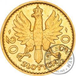 20 złotych - Polonia (głowa kobiety) - Au