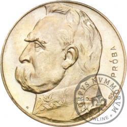 10 złotych - Piłsudski, orzeł strzelecki, Ag PRÓBA st. L