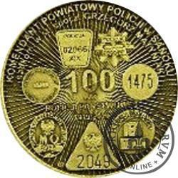 100 lat Policji KPP Sanok (mosiądz)