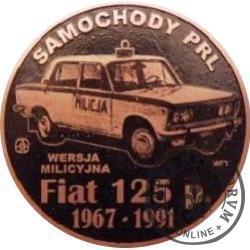 20 zmotoryzowanych (FIAT 125p - RADIOWÓZ) / WZORZEC PRODUKCYJNY DLA MONETY (miedź patynowana)