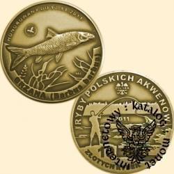 10 złotych rybek (mosiądz patynowany) - XI emisja / BRZANA