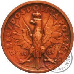 50 złotych - klęczący rycerz - bez nominału - miedź