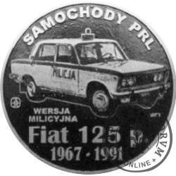 20 zmotoryzowanych (FIAT 125p - RADIOWÓZ) / WZORZEC PRODUKCYJNY DLA MONETY (miedź srebrzona oksydowana)