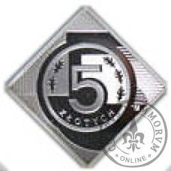 5 złotych - klipa Ag