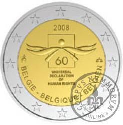 2 euro - 60 rocznica Powszechnej Deklaracji Praw Człowieka