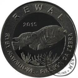 10 złotych rybek - Pomorze Zachodnie / Rewal ~ Pielęgnica zebra (II emisja - alpaka oksydowana)