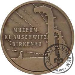 Miasto Oświęcim / Muzeum KL Auschwitz-Birkenau (mosiądz patynowany)