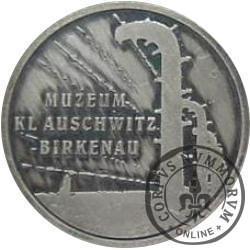 Miasto Oświęcim / Muzeum KL Auschwitz-Birkenau (mosiądz posrebrzany oksydowany)