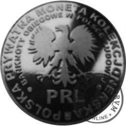 20 ludowych / BANKNOTY PRL - 10 złotych (mosiądz srebrzony oksydowany)