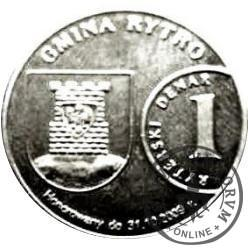 1 denar ryterski (mosiądz posrebrzany)