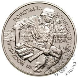 100 000 złotych - 50. rocznica Powstania Warszawskiego