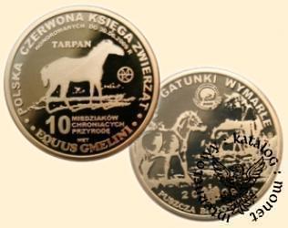 10 miedziaków chroniących przyrodę - TARPAN (mosiądz)