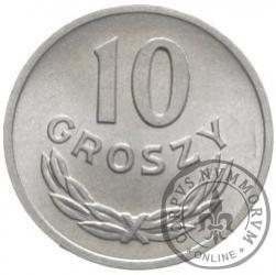 10 groszy - znak mennicy