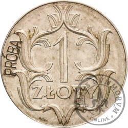 1 złoty - ornament, Ag 20 mm