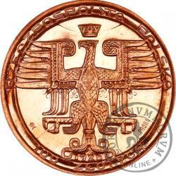 100 złotych - Mikołaj Kopernik - duża miedź, bok z napisem