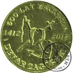 1 denar zagórski (mosiądz)