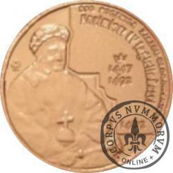 10 głogowskich / KAZIMIERZ IV JAGIELLOŃCZYK (VI emisja - mosiądz miedziowany lustro)
