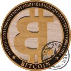 Bitcoin BTC - metal pozłacany (żeton ażurowy)