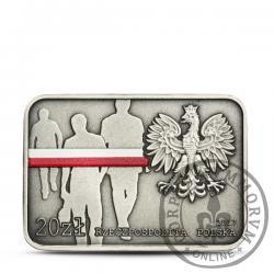 20 złotych - 35. rocznica zrywu antykomunistycznego w Lublinie
