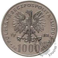 1000 złotych - papież półpostać
