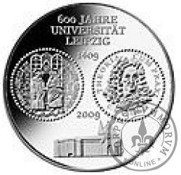 10 euro -  600-lecie Uniwersytetu w Lipsku