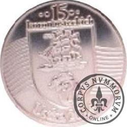 15 koron usteckich (IV emisja - mosiądz posrebrzany)