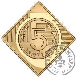 5 złotych - klipa Au