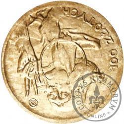 100 złotych - Mikołaj Kopernik - mała Ag odwrotka