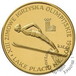 2000 złotych - XIII Zimowe Igrzyska Olimpijskie - Lake Placid 1980