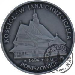 8 talarów powiatowych - Poniszowice / Kościół Św. Jana Chrzciciela (Ag oksydowane)
