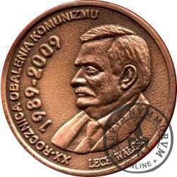 1 denar ustecki 2009 - Lech Wałęsa (Cu - edycja specjalna)