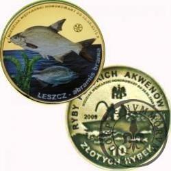 10 złotych rybek (mosiądz + tampondruk) -  VI emisja / LESZCZ