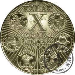 1 talar sanocki - X-lecie Mincerza z Sanoka / wersja I (XX emisja - mosiądz)