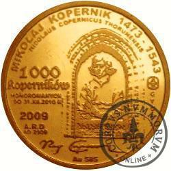 1000 koperników / Mikołaj Kopernik (Au.585)