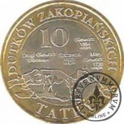 10 dutków zakopiańskich - Szarotka alpejska (IV emisja - bimetal z tampondrukiem)