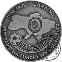 EURO 2012 - POLSKA - UKRAINA (miedź srebrzona oksydowana)