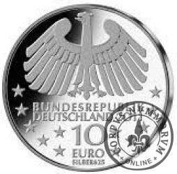 10 euro -  100 lat tunelu pod Łabą w Hamburgu.