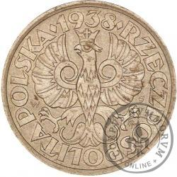 50 groszy - stary orzeł, liczba w wieńcu, żelazo 23 mm