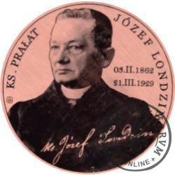 30 duszpasterskich - 150. rocznica urodzin ks. prałata Józefa Londzina (miedź - Φ 22 mm)