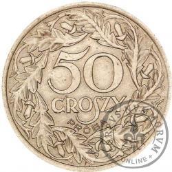 50 groszy - stary orzeł, liczba w wieńcu, żelazo 24,5 mm