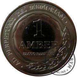 1 amber (mosiądz niklowany) - BURSZTYNOWA LEGENDA